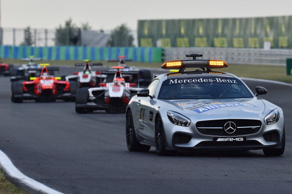 Safety  car leads the field at GP3 Series, Rd4, Hungaroring, Hungary, 24-26 July 2015.