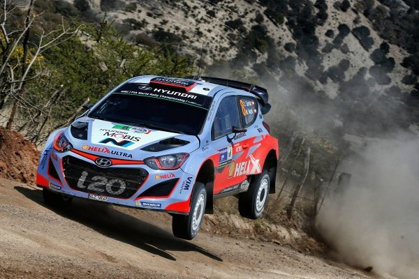 Dani Sordo (ESP) / Marc Marti (ESP) Hyundai i20 WRC at World Rally Championship, Rd3, Rally Mexico, Day Two, Leon, Mexico, 7 March 2015.