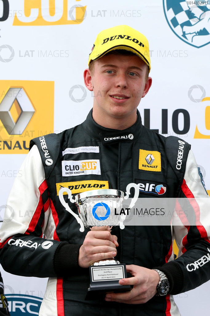 2015 Renault Clio Cup, Donington Park, 18th - 19th April 2015 Jack Mitchell (GBR) SV Racing Renault Clio Cup  World copyright. Jakob Ebrey/LAT Photographic