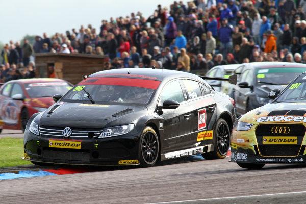 2015 British Touring Car Championship, Thruxton, 9th and 10th May 2015, Jason Plato (GBR) Team BMR Volkswagen Passat CC World copyright. Ebrey/LAT Photographic