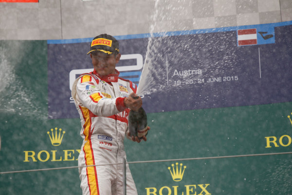 2015 GP2 Series Round 4. Red Bull Ring, Spielberg, Austria. Sunday 21 June 2015. Rio Haryanto (INA, Campos Racing)  Photo:  Sam Bloxham/GP2 Media Service ref: Digital Image _G7C6557