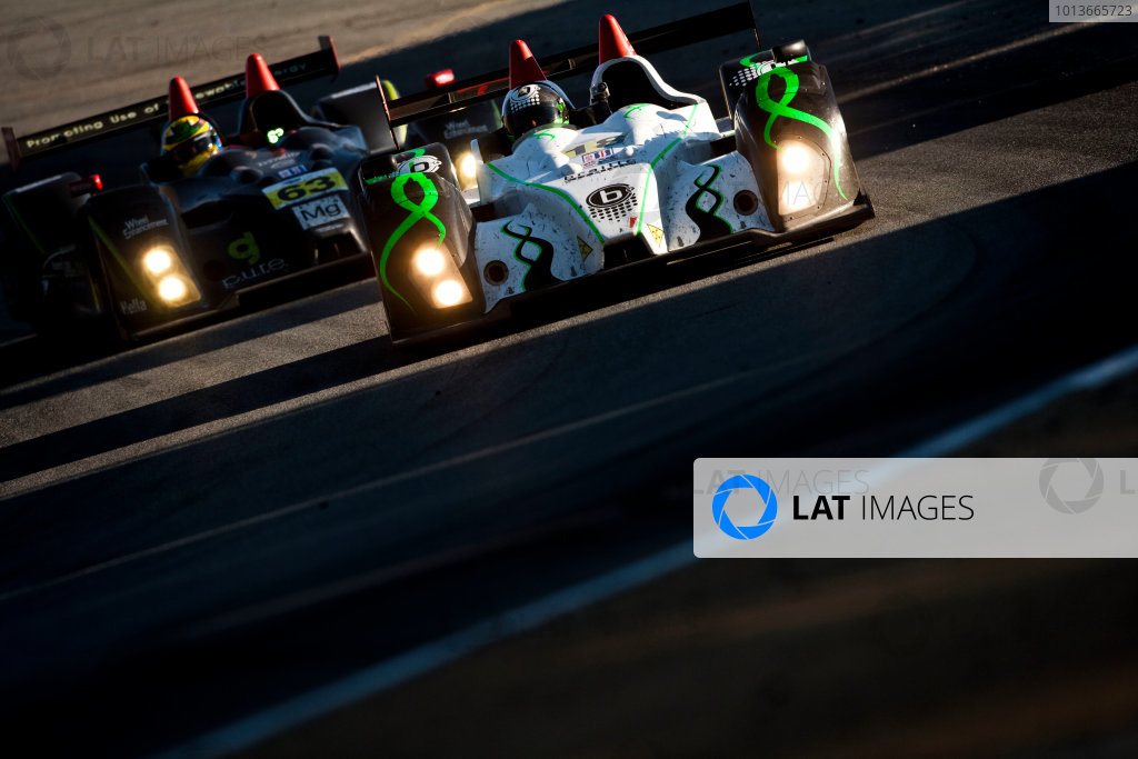 American Le Mans Series. Laguna Seca, Monterey, California. 15th - 17th September 2011. Anthony Nicolosi / Jarrett Boon / Jan - Dirk Lueders, Performance Tech Motorsports, Oreca FLM09. Action. Photo: Drew Gibson/LAT Photographic. ref: Digital Image _Y2Z67Bruno Junqueira / Kenny Wilden, Jaguar RSR, Jaguar XKR.