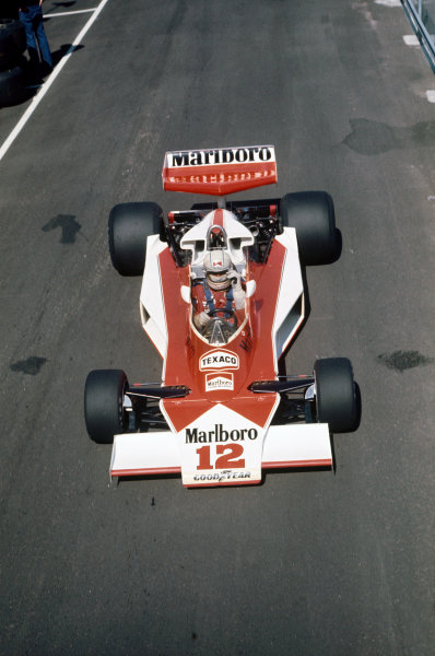 Anderstorp, Sweden.  11th - 13th June 1976.  Jochen Mass, McLaren M23- Ford Cosworth, 11th position, action. World Copyright - LAT Photographic. Ref: 76SWE14