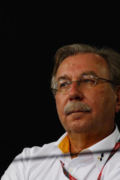 Interlagos, Sao Paulo, Brazil. 25th November 2011. Jean-Francois Caubet, Managing Director, Renault Sport. Portrait. Press Conferences.  World Copyright:Charles Coates/LAT Photographic ref: Digital Image _X5J0426