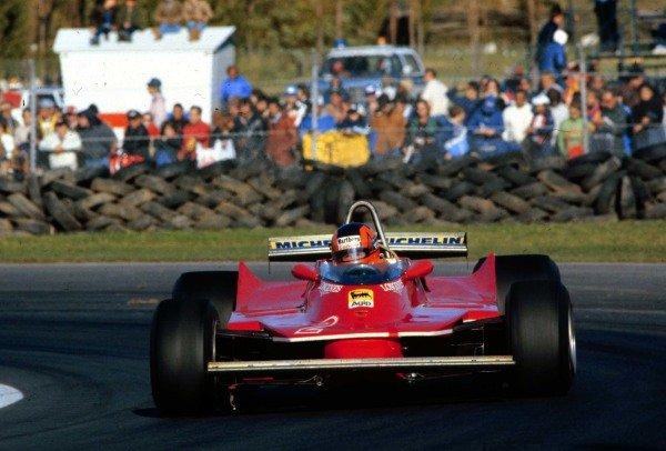 1980 Canadian Grand Prix.Montreal, Quebec, Canada.26-28 September 1980.Gilles Villeneuve (Ferrari 312T5) 5th position.World Copyright - LAT Photographic