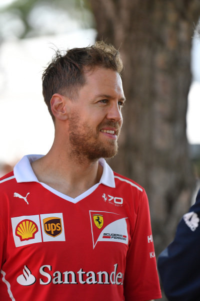 Sebastian Vettel (GER) Ferrari at Formula One World Championship, Rd1, Australian Grand Prix, Preparations, Albert Park, Melbourne, Australia, Thursday 23 March 2017.