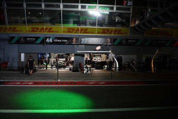 The Mercedes garage