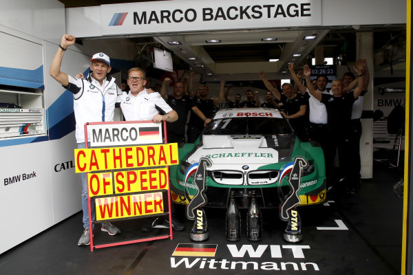 Marco Wittmann, BMW Team RMG with the team.