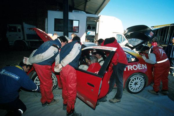 2002 World Rally TestingFrance, 10th December 2002Colin McRae, Citroen Xsara WRCWorld Copyright - PHOTO4 / LAT Photographicref: digital file only