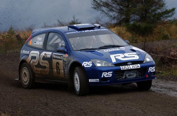 2002 World Rally Championship.Network Q Rally of Great Britain, Cardiff. November 14-17. Markko Martin during shakedown.Photo: Ralph Hardwick/LAT