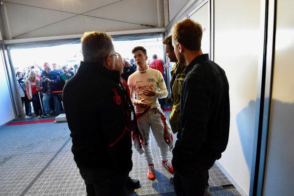 Sebastian Vettel (GER) with his brother Fabian Vettel (GER) at Audi Sport TT Cup, DTM Championship, Hockenheim, Germany, 14-15 October 2017.