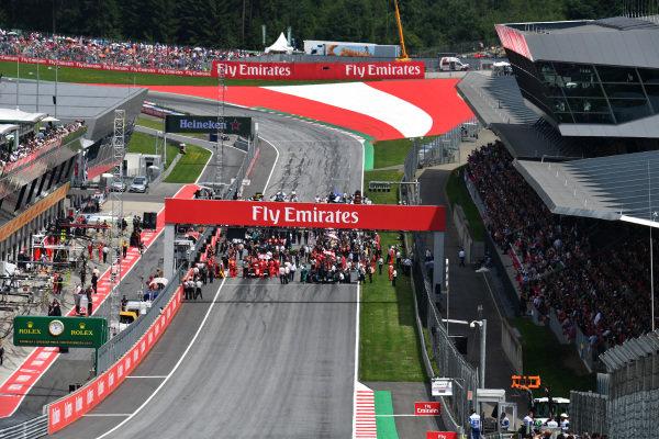 Grid at Formula One World Championship, Rd9, Austrian Grand Prix, Race, Spielberg, Austria, Sunday 9 July 2017.