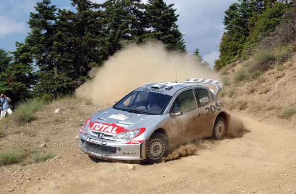 World Rally Championship, Acropolis Rally, June 13-16, 2002.Marcus Gronholm on stage 1.Photo: Ralph Hardwick/LAT