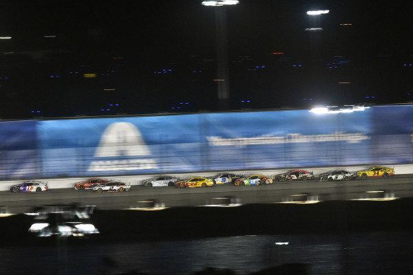 #11: Denny Hamlin, Joe Gibbs Racing, Toyota Camry FedEx and #2: Brad Keselowski, Team Penske, Ford Mustang Discount Tire