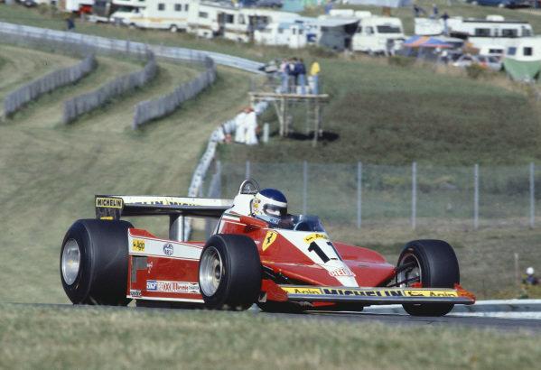 1978 United States Grand Prix East.Watkins Glen, New York, USA.29/9-1/10 1978.Carlos Reutemann (Ferrari 312T3) 1st position.Ref-78 USA 26.World Copyright - LAT Photographic