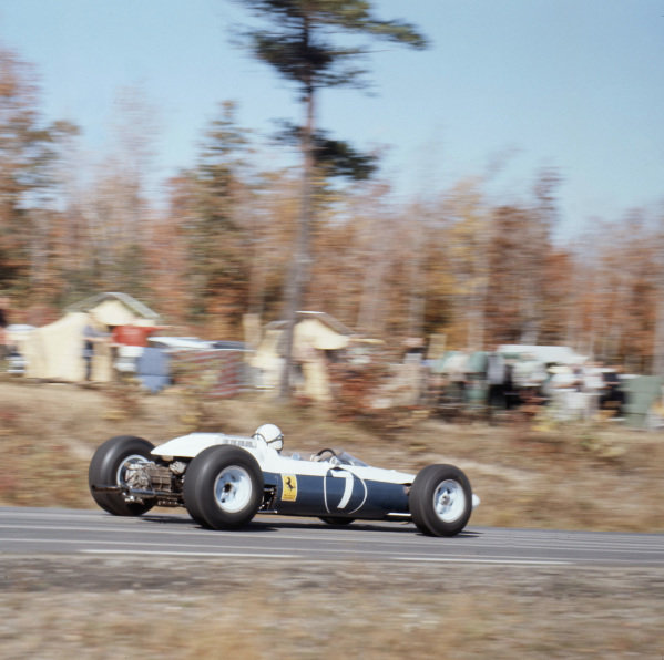 1964 United States Grand Prix.Watkins Glen, New York, USA.2-4 October 1964.John Surtees (Ferrari 158) 2nd position.Ref-1438.World Copyright - LAT Photographic