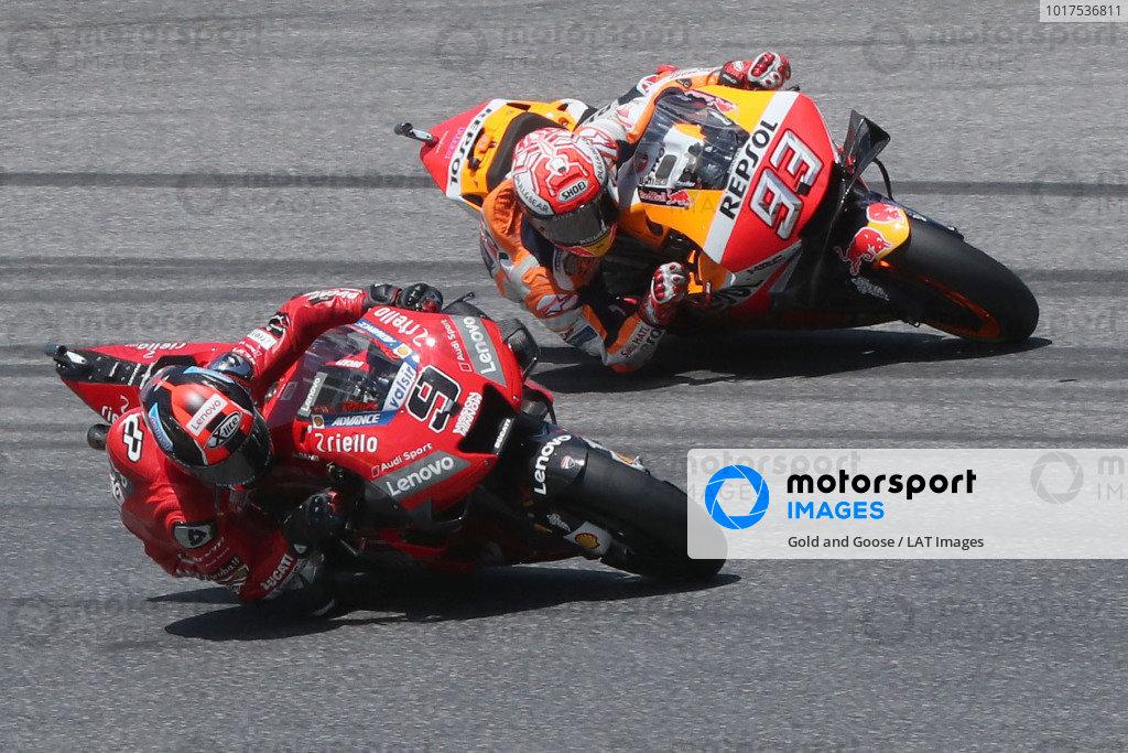 Danilo Petrucci, Ducati Team, Marc Marquez, Repsol Honda Team.