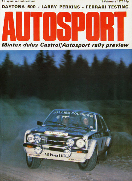 Cover of Autosport magazine, 19th February 1976