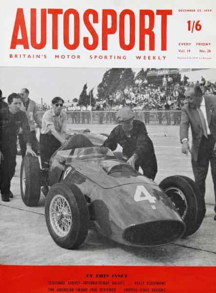 Cover of Autosport magazine, 25th December 1959