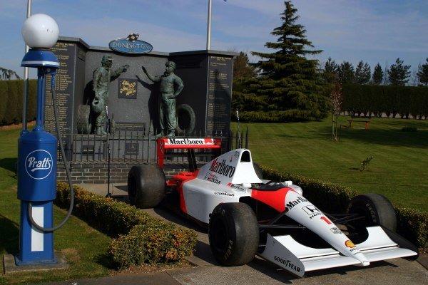 An ex-Ayrton Senna (BRA) 1991 McLaren Honda MP4/6. Ayrton Senna wins European Grand Prix 10th Anniversary 1993-2003, Donington Park, England, 11 April 2003. DIGITAL IMAGE