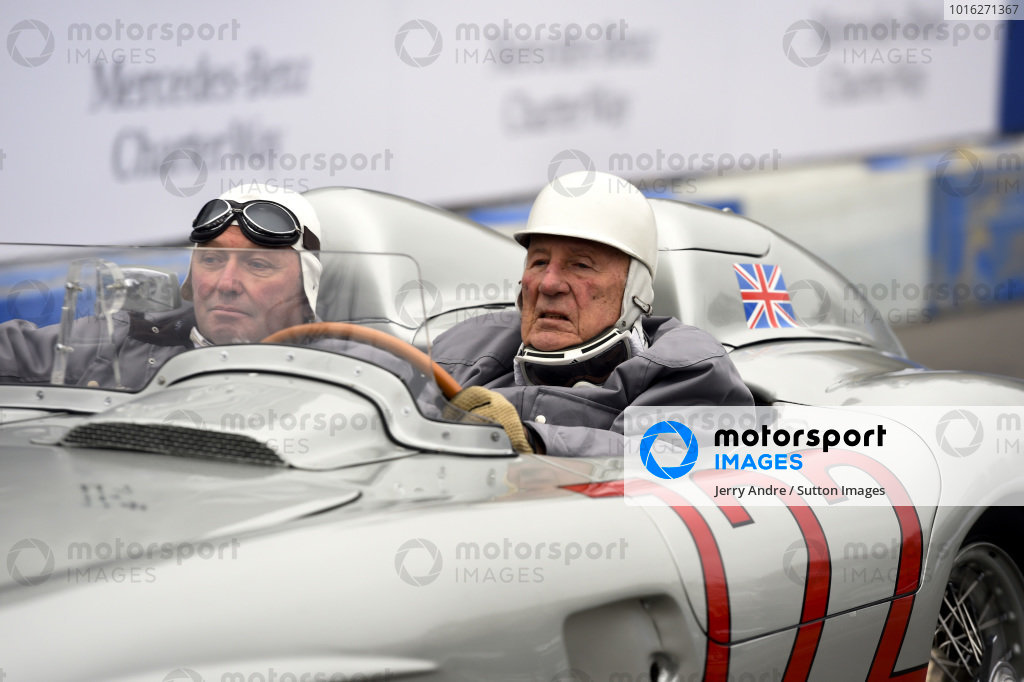 Sir Stirling Moss (GBR) and Jochen Mass (GER).Mercedes-Benz Stars and Cars, Mercedes-Benz Museum, Stuttgart, Germany, 29 November 2014.