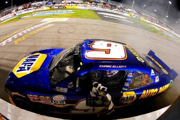 10-11 September, 2015, Richmond, Virginia USA Chase Elliott celebrates his win  ?2015, Russell LaBounty LAT Photo USA