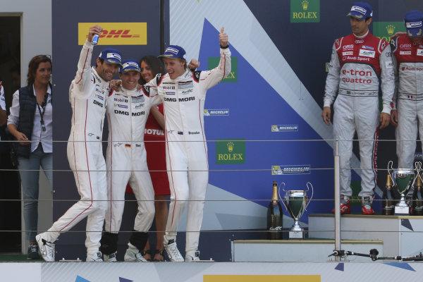 2016 FIA World Endurance Championship, Nurburgring, Germany. 22nd-24th July 2016, Timo Bernhard / Mark Webber / Brendon Hartley - Porsche 919 Hybrid World Copyright. Jakob Ebrey/LAT Photographic