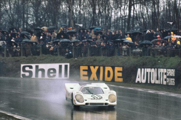 1970 BOAC Brands Hatch 1000 Kms. Brands Hatch, England. 12th April 1970. Vic Elford / Denny Hulme (Porsche 917K), 2nd position, action.  World Copyright: LAT Photographic. Ref: 70BOAC_Brands_5.