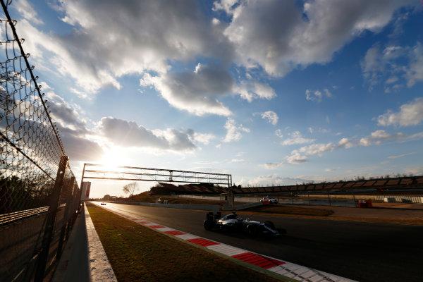 Circuit de Catalunya, Barcelona, Spain Thursday 25 February 2016. Nico Rosberg, Mercedes F1 W07 Hybrid.  World Copyright: Sam Bloxham/LAT Photographic ref: Digital Image _SBL8626