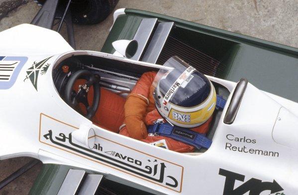 1980 Brazilian Grand Prix.Interlagos, Sao Paulo, Brazil. 25-27 January 1980.Carlos Reutemann (Williams FW07B-Ford Cosworth), retired.World Copyright: LAT PhotographicRef: 35mm transparency 80BRA12