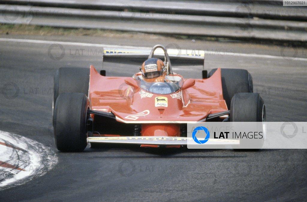 1980 Belgian Grand Prix.Zolder, Belgium. 2-4 May 1980.Gilles Villeneuve (Ferrari 312T5), 6th position.World Copyright: LAT PhotographicRef: 35mm transparency 80BEL04