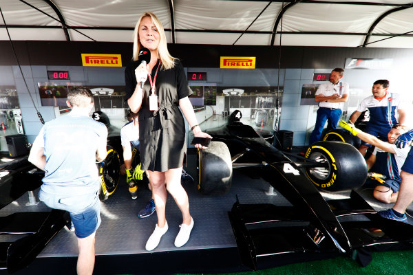 Red Bull Ring, Spielberg, Austria. Saturday 08 July 2017. The Pit Stop Challenge in the F1 fan village. World Copyright: Glenn Dunbar/LAT Images ref: Digital Image _X4I8131
