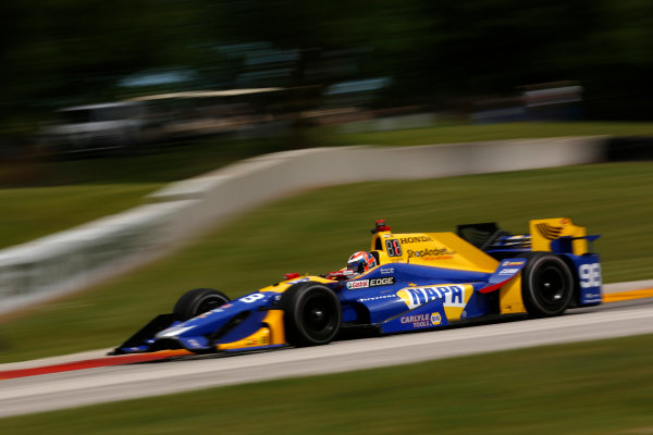 Verizon IndyCar Series Kohler Grand Prix Road America, Elkhart Lake, WI USA Friday 23 June 2017 Alexander Rossi, Andretti Herta Autosport with Curb-Agajanian Honda World Copyright: Phillip Abbott LAT Images ref: Digital Image abbott_elkhart_0617_0176