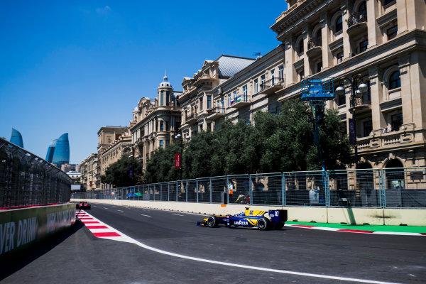 2017 FIA Formula 2 Round 4. Baku City Circuit, Baku, Azerbaijan. Friday 23 June 2017. Nicholas Latifi (CAN, DAMS)  Photo: Zak Mauger/FIA Formula 2. ref: Digital Image _54I9416