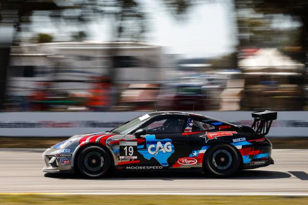 2017 Porsche GT3 Cup USA Sebring International Raceway, Sebring, FL USA Friday 17 March 2017 19, Will Hardeman, GT3P, USA, 2017 Porsche 991 World Copyright: Jake Galstad/LAT Images ref: Digital Image lat-galstad-SIR-0317-14690
