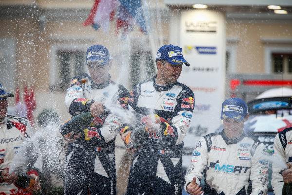 2017 FIA World Rally Championship, Round 01, Rally Monte Carlo, January 18-22, 2017, Sebastien Ogier, Julien Ingrassia, Ford, Podium, Worldwide Copyright: McKlein/LAT