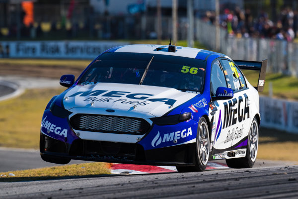 2017 Supercars Championship Round 4.  Perth SuperSprint, Barbagallo Raceway, Western Australia, Australia. Friday May 5th to Sunday May 7th 2017. Jason Bright drives the #56 MEGA Racing Ford Falcon FG-X. World Copyright: Daniel Kalisz/LAT Images Ref: Digital Image 060517_VASCR4_DKIMG_2127.JPG