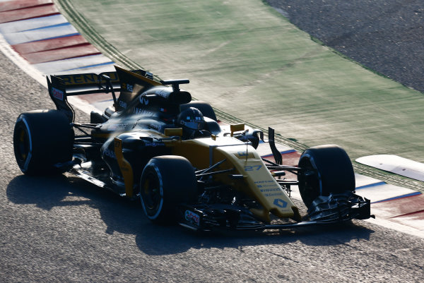Circuit de Barcelona Catalunya, Barcelona, Spain. Monday 27 February 2017. Nico Hulkenberg, Renault R.S.17.  World Copyright: Zak Mauger/LAT Images ref: Digital Image _L0U9689