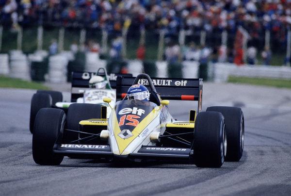 1985 Austrian Grand Prix.Osterreichring, Zeltweg, Austria.16-18 August 1985.Patrick Tambay (Renault RE60B) 10th position.Ref-85 AUT 33.World Copyright - LAT Photographic