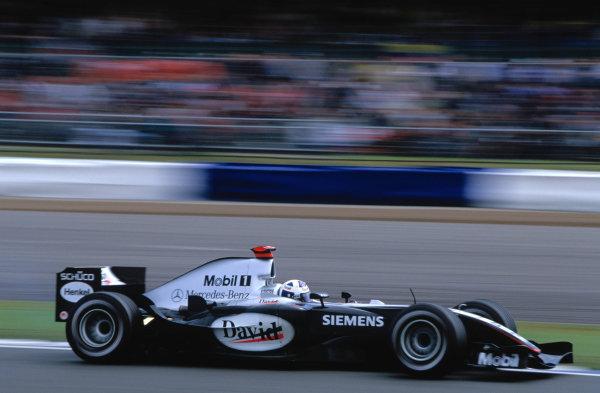 2004 British Grand PrixSilverstone England. 9th - 11th July.David Coulthard, McLaren Mercedes MP4/19. Action. World Copyright:Glenn Dunbar/LAT PhotographicRef:35mm image A14