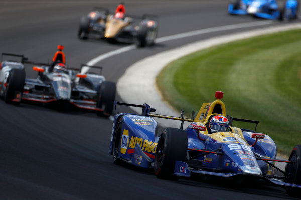 29 May, 2016, Indianapolis, Indiana, USA Alexander Rossi leads Alex Tagliani ?2016, Phillip Abbott LAT Photo USA