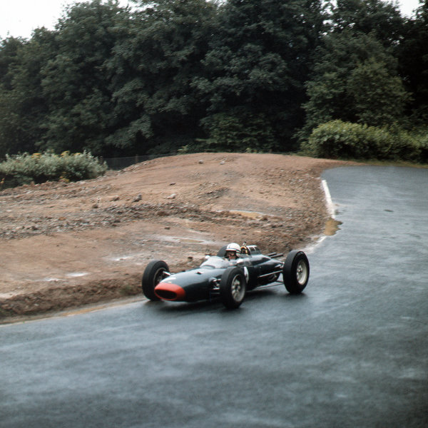 Nurburgring, Germany.3-5 August 1962.John Surtees (Lola Mk4 Climax) 2nd position.Ref-3/0633.World Copyright - LAT Photographic