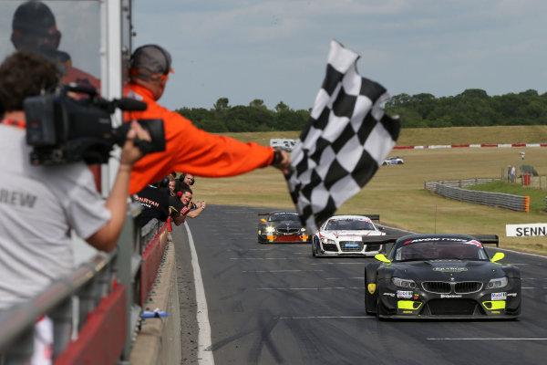 2013 British GT Championship, Snetterton, Norfolk. 15th - 16th June 2013. Steve Tandy / Dan Brown 888Optimum BMW Z4 GT3. World Copyright: Ebrey/LAT Photographic.