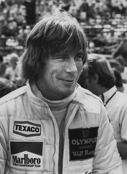 Monte Carlo, Monaco. 24-27 May 1979. James Hunt (Wolf WR7-Cosworth), retired, portrait. World Copyright: LAT Photographic. Ref: B/W Print.