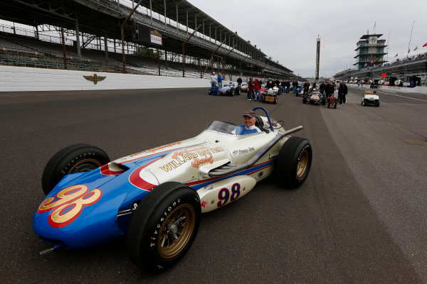 25  May, 2013, Indianapolis, Indiana, USA Parnelli Jones in the cockpit of his 1963 winning car © 2013, Michael L. Levitt LAT Photo USA