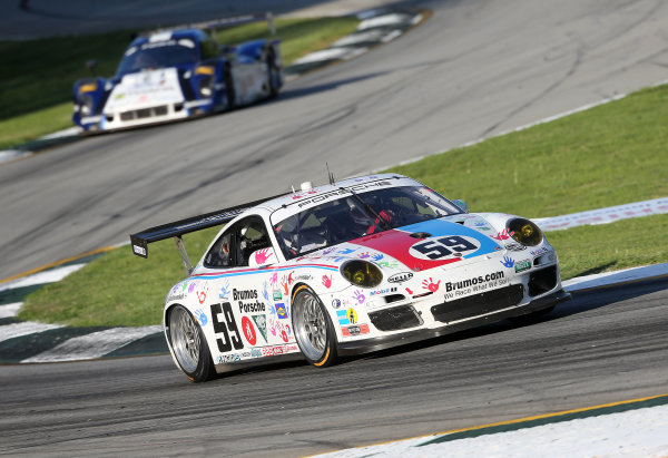 18-20 April, 2013, Braselton, Georgia USA The #59 Porsche of  Leh Keen and Andrew Davis is shown in action. ©2013, R D. Ethan LAT Photo USA