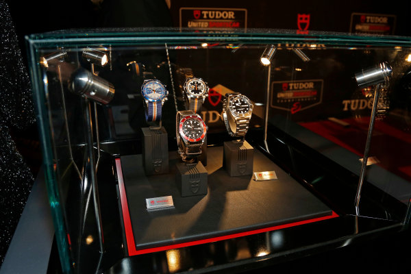 13 October, 2014, New York, New York USA Tudor watch display ©2014, Todd Davis LAT Photo USA