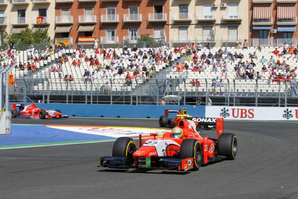 Valencia Street Circuit, Valencia, Spain.  24th June 2012. Sunday Race. Luiz Razia (BRA, Arden International). Action. Photo: Andrew Ferraro/GP2 Media Service. Ref: Digital Image _Q0C9838.jpg