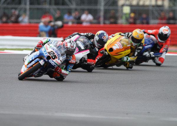 British Grand Prix.  Silverstone, England. 15th-17th June 2012.  Moto3. Maverick Vinales, FTR Honda, leads Luis Salom, Kalex KTM, and Efren Vazquez, FTR Honda.  World Copyright: Kevin Wood/LAT Photographic.  ref: Digital Image IMG_8773a