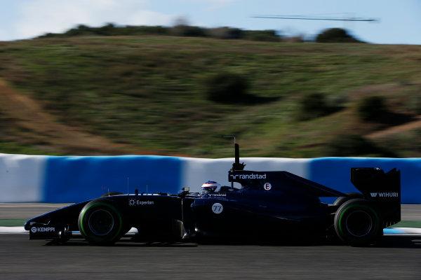 2014 F1 Pre Season Test 1 - Preview Circuito de Jerez, Jerez, Spain. Wednesday 29 January 2014. Valtteri Bottas, Williams FW36 Mercedes. World Copyright: Glenn Dunbar/LAT Photographic. ref: Digital Image _89P9539